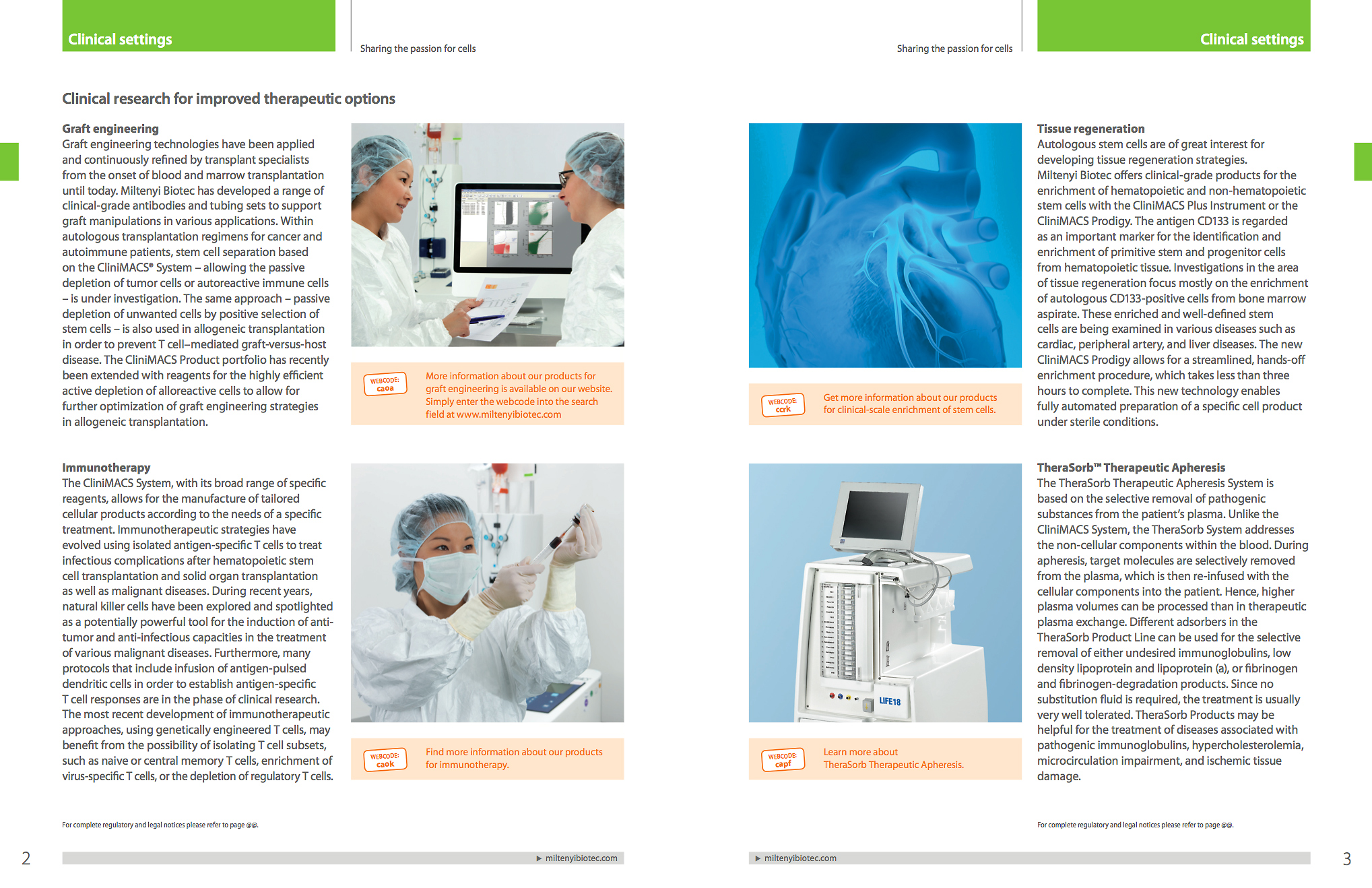 Intro page introduces the clinical section