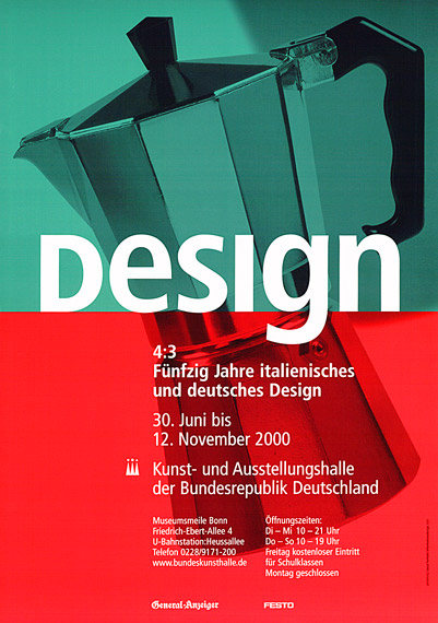 Design exhibition in Bonn, near Cologne, Germany