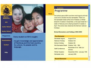 Hamburg International School, school programme