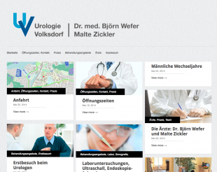 Screenshot of Urologie Volksdorf Website
