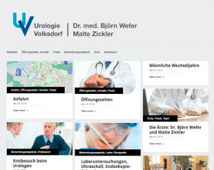 Screenshot of Urologie Volksdorf Website